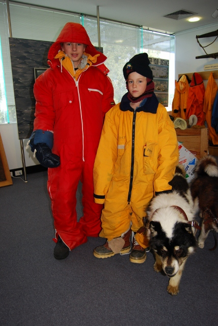 Dressing up at the Antarctic division