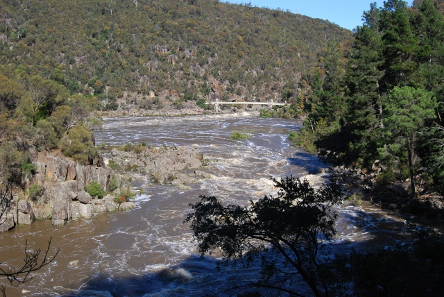 Cataract Gorge in flood