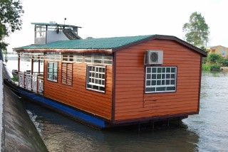 Our private houseboat