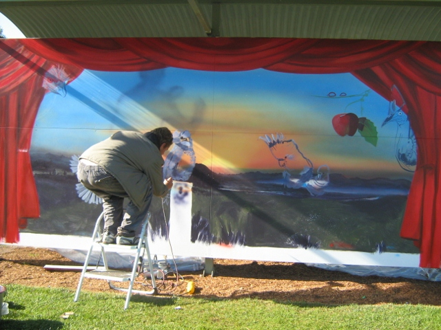 New murals being painted