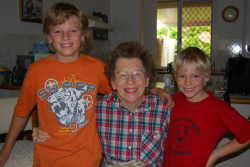 The boys and Grandma